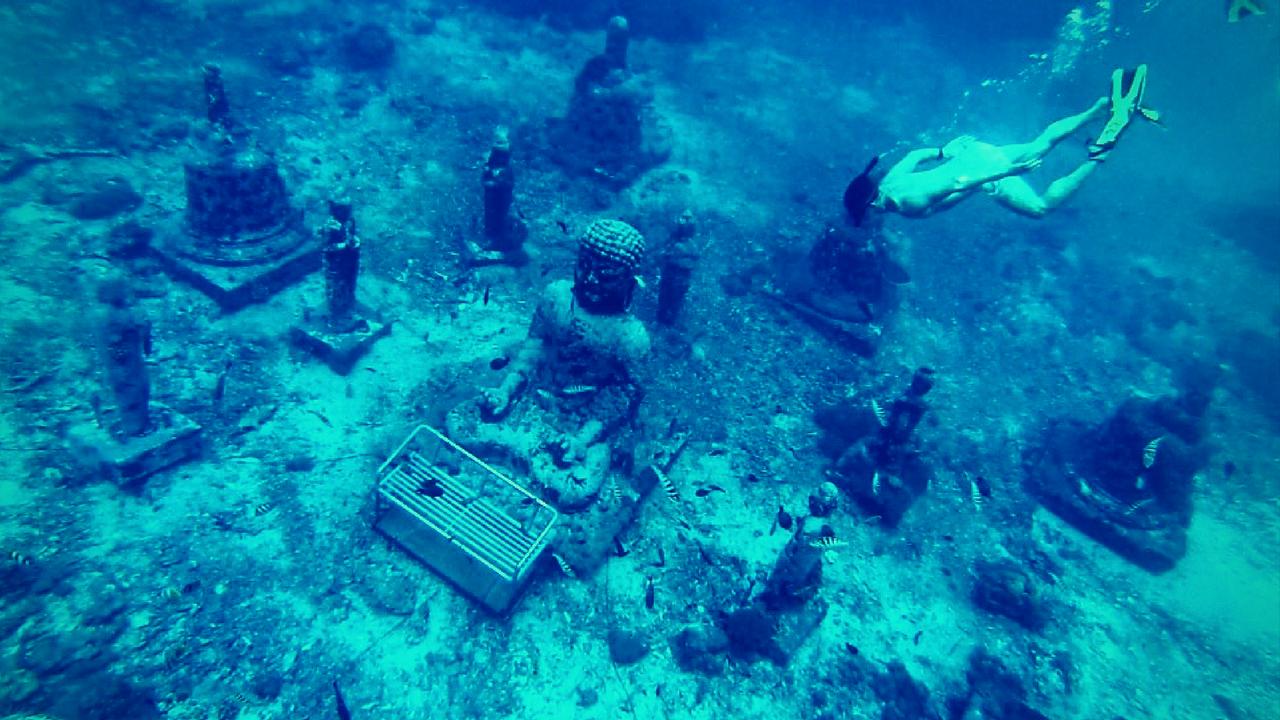 underwater buddha garden bali