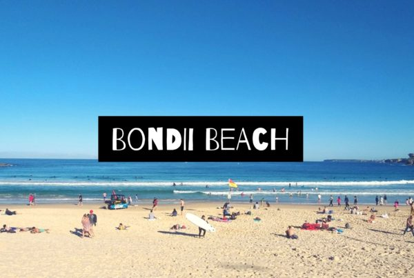 visiting bondi beach in sydney