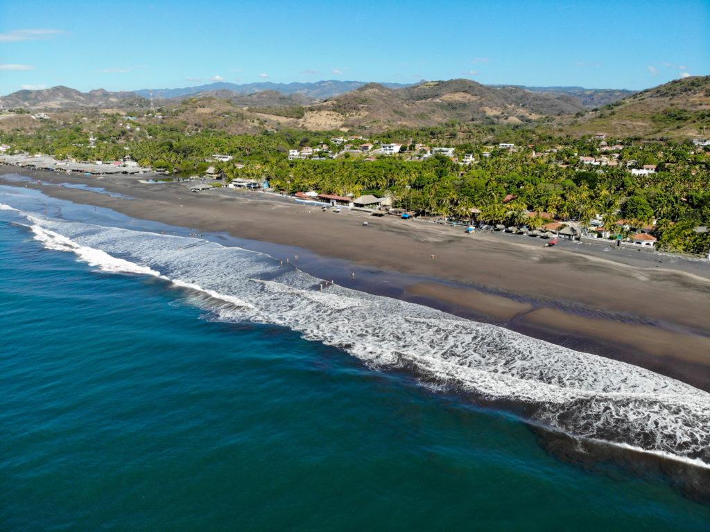el salvador playa san blas drone
