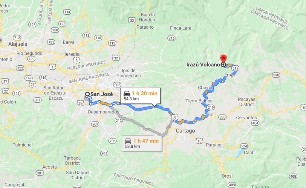 how to get to volcan irazu