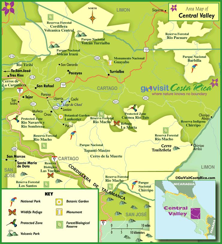 map of irazu volcano