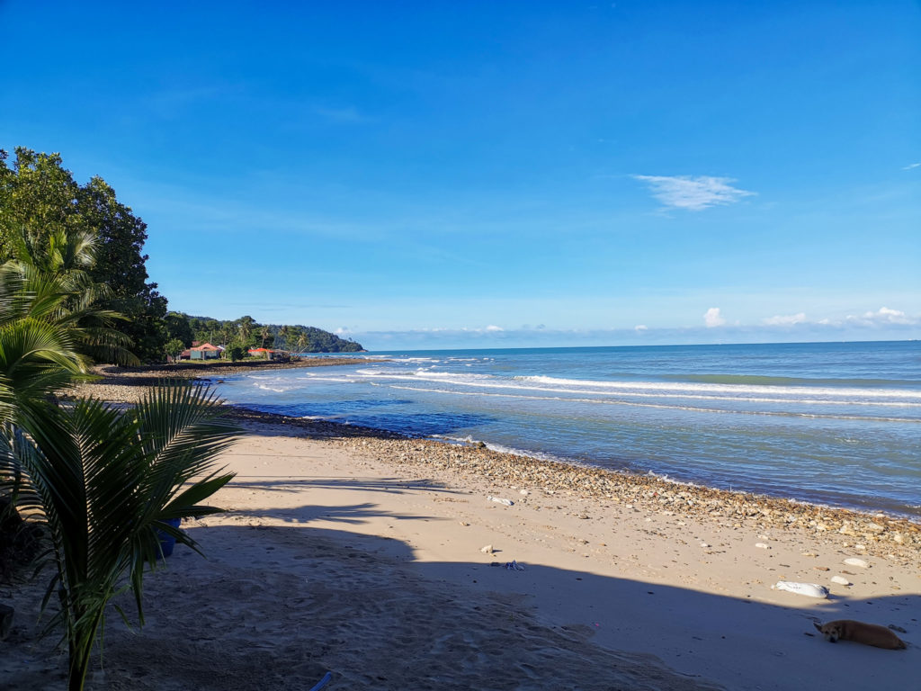 lonely beach on koh chang island nomadic travel