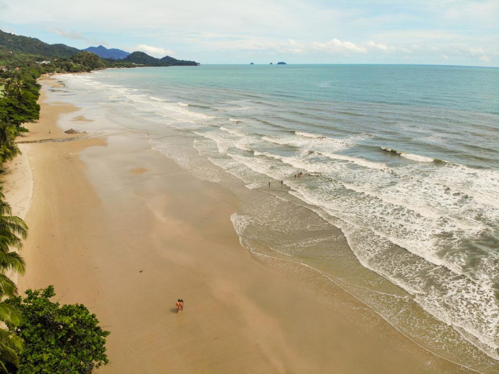white sand beach koh chang nomadic travel